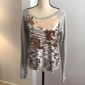 Express sequined long sleeve sweater